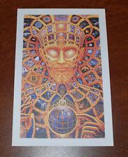 Alex Grey Cosmic Christ 1999 Blotter Art Print Poster Rare Vintage
