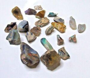 Australian jelly opal, potch and solid opal...167 carat