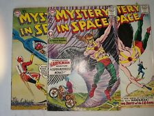 Mystery In Space Lot of 3 Adam Strange/Hawkman Murphy Anderson art