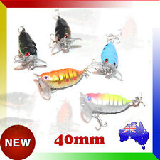 5x Winged Cicada Topwater Fishing Lure Surface Crawler Popper Pencil Bait Lures