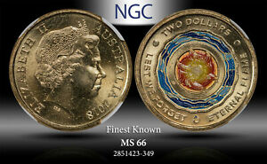 2018 AUSTRALIA 2 DOLLARS LEST WE FORGET ETERNAL FLAME NGC MS 66 FINEST KNOWN
