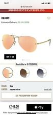 Rayban Aviator Mirror Sunglasses Gold Frames With Copper Lenses