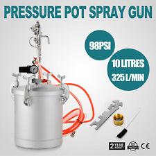 High Pressure Pot Air Paint Spray Gun 2 3/4 Gallon 10L Pearl Varnishes 98 psi