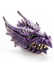 Purple Dragon's Head Trinket & Keepsake Box Jewellery Holder Geek Fantasy
