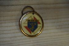 Vintage Knights of Columbus Enamel and Gold Colored Pendant