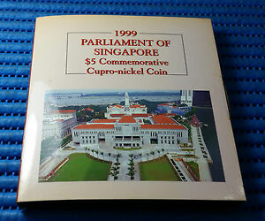 1999 Parliament of Singapore $5 Commemorative Cupro-Nickel Coin
