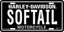 Harley Davidson SOFTAIL Embossed Metal Novelty Car License Plate Auto Tag