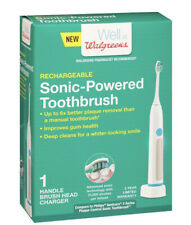Walgreens Sonic-Powered Handle Toothbrush-Rechargeable Compare to Sonicare