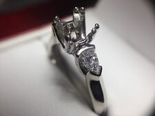 Verragio Classico ENG-0023 Diamond Pear Shape Engagement Setting Platinum Ring