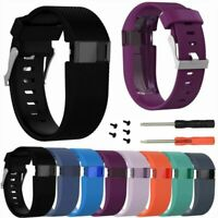 1* Silicone Wristband Strap Bracelet for Fitbit Charge HR Large Band Replacement
