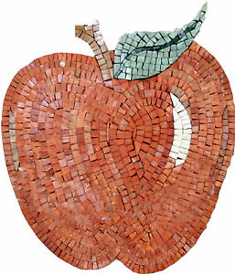 Red Delicious Apple Table Top Kitchen Decor Marble Mosaic IN148