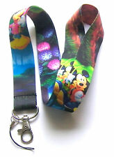 * Disney Lanyard With Passholder  'Mickey & Minnie Mouse' Cell Phone ID Key * UK