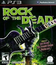 ROCK OF THE DEAD PS3! ROB ZOMBIE, BE A WORLD GUITAR GOD HERO! BATTLE ZOMBIES!