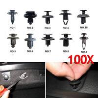 100PCS Car Door Trim Clip Bumper Rivets Screw Panel Interior Retainer Kit Set