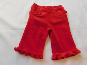 The Children's Place Baby Girl's Pants Bottoms Velour Red Size Variations NWT
