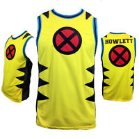 MARVEL X MEN Mens Basketball Jersey XL 2XL 3XL WOLVERINE HOWLETT Tank NEW