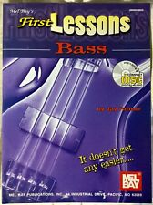 First Lessons Bass Guitar Music Tutor Method Book +CD