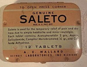 Saleto Aspirin Tin