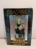 Razor Mega Chromium Cards Preview Set 1997 Factory Sealed SET MATURE
