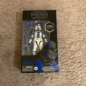 Hasbro Star Wars The Force Unleashed Black Series 6 inch Action Fig.Stormtrooper