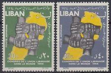 Libanon Lebanon 1964 ** Mi.876/77 Ausländer Foreigner Libanesen Libanese