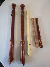 More details for five recorders, 2 tenor, 1 alto and 2 soprano