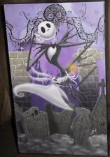 JACK SKELLINGTON WOODEN TABLE TOP BOX PICTURE NIGHTMARE BEFORE CHRISTMAS NEW!