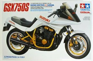 Tamiya 1/12 Suzuki GSX750S NEWKATANA plastic model #14034