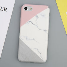 For iPhone 5 SE 6s X 7 8 Plus Case Ultra Slim Thin Hard Matte Marble Style Cover