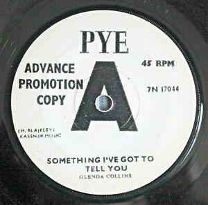 """GLENDA COLLINS Something I've Got To Tell You 7"""" PROMO Joe Meek 7N 17044 VG '66"""