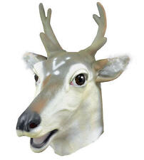 Stag Deer Rubber Mask Fancy Dress Costume Outfit Prop Dears Head