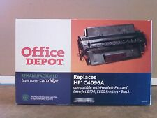 Office Depot Re-manufactured HP C4096A   HP 96A  Black Toner Cartridge Laser Jet