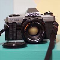 Minolta X300 35mm SLR Film Camera & MD Rokkor-X 50mm F1.7 Prime Lens Lomo Retro