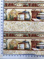 Fabric, Clothworks, Tea Party, Light Khaki Y0544-11, by the yard