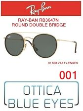 Occhiali da Sole RAYBAN RB3647N 001 ROUND DOUBLE BRIDGE Sunglasses Ray Ban GOLD