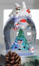 Diving Snowman Waterglobe Christmas Tree in Globe Glitter included