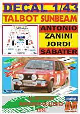 DECAL 1/43 TALBOT HORIZON A.ZANINI C.MONTSENY-GUILLERIES 1981 5th (01)