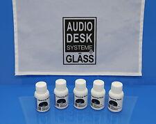 GLÄSS AUDIO DESK Vinyl Cleaner-Zubehör 5x CLEANING FLUID  Reinigungskonzentrat