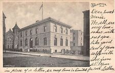 1904 Post Office New Brunswick NJ post card