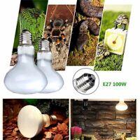Pet Reptile E27 220V 100W Heater Lamp Halogen Light Basking Lamp Bulb UVA UVB