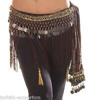 Belly Dance Fringe Skirt Hip Scarf Coin Belt Tribal Style Wrap Waist Sash NEW UK
