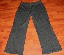 CENTRAL PARK WEST Black Thin Striped Wide Leg Pants