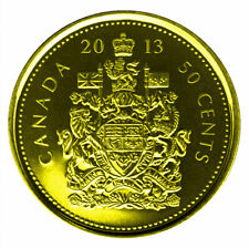 2013 Canadian Classic 50 Cents Plated Gold 24 k