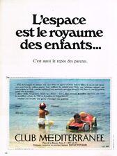 G- Publicité Advertising 1969 Club Mediterranée