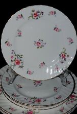 VTG ROYAL ADDERLEY FRAGRANCE BONE CHINA LOT 3 DINNER PLATES ROSE PARAGON ENGLAND