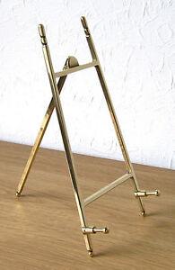 """Contemporary"" Italian Cast Brass Display Easel 10 x 20cm"