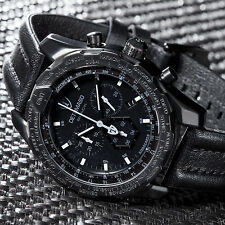 DETOMASO AIRBREAKER Mens Watch Chronograph GMT Stainless Steel Black New
