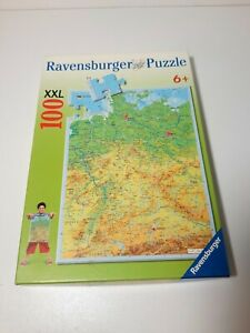 100 Pieces XXL Puzzle - Germany Map Geographically - Ravensburger