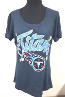 New Womens NFL Team Apparel Tennessee Titans Short Sleeve Shirt - Large L
