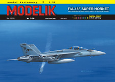 F/A-18F Super Hornet fighter aircraft 1:33 paper card model kit 55cm long